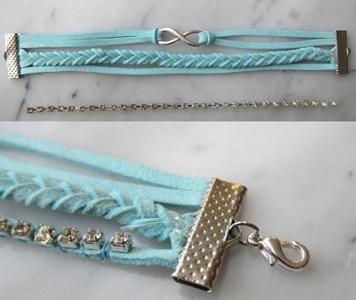5422122a2b20 Nuevo DIY para hacer tú misma pulseras de moda de cuero con este sencillo  tutorial que combina abalorios y strass