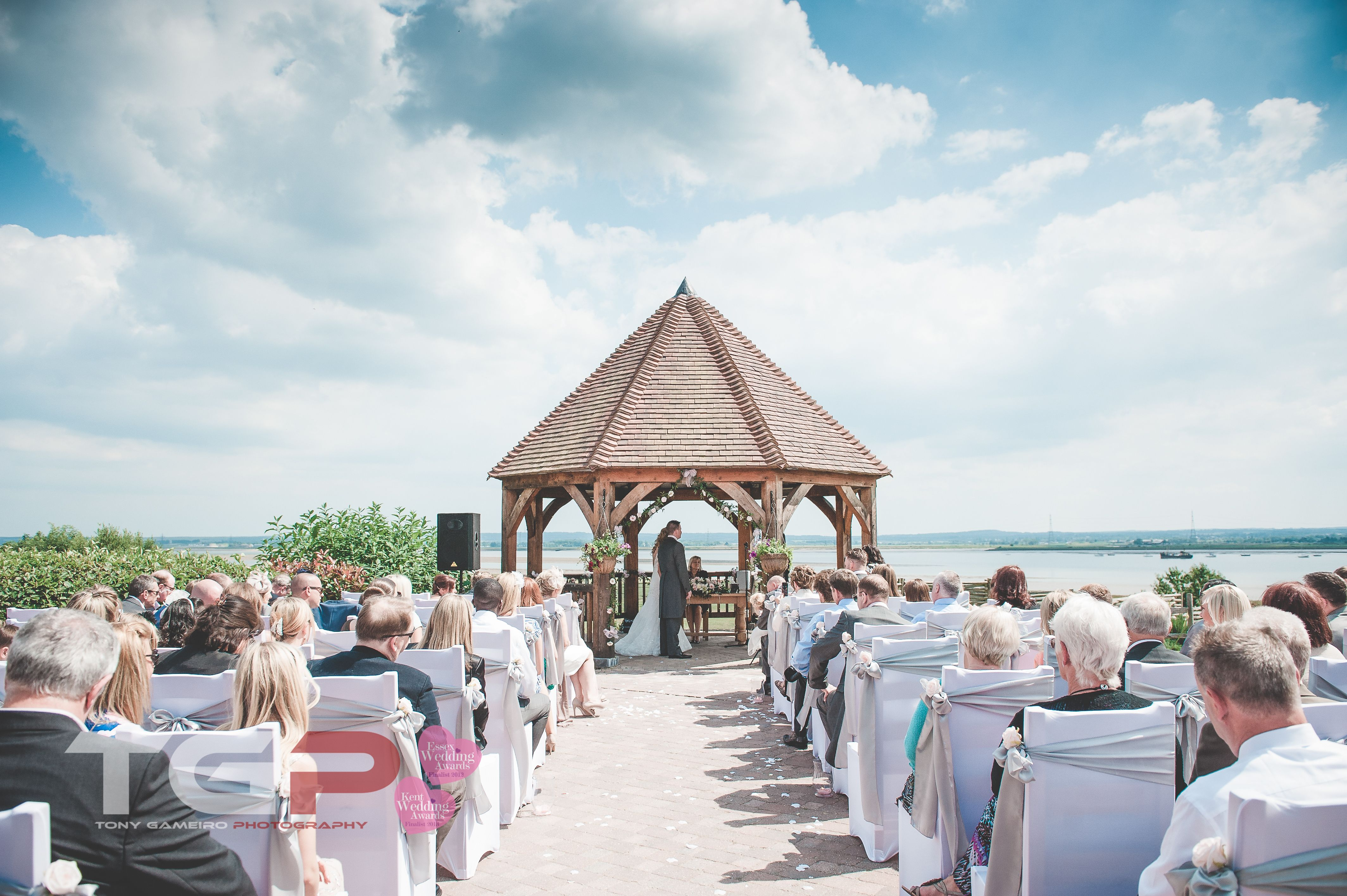 Outdoor Wedding Ceremony With Amazing Views At The Ferry