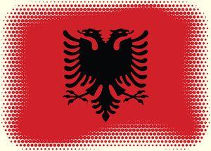 Albanian Flag Halftone Effect Albanian Flag Halftone Flag