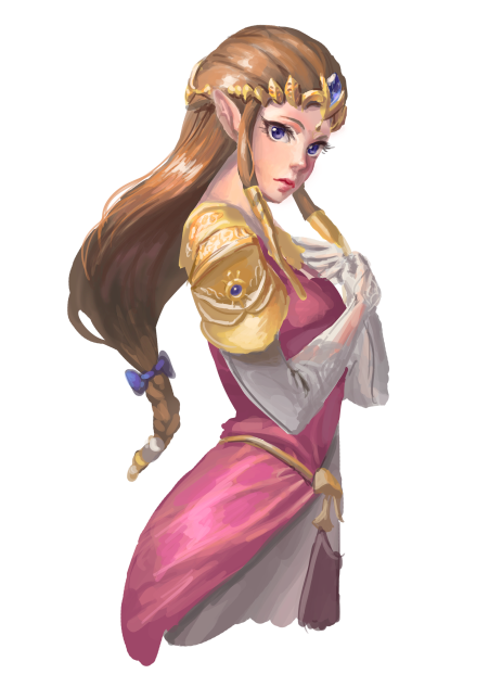 Princess Zelda, The Legend of Zelda: Ocarina of time artwork by Athena Wyrm.