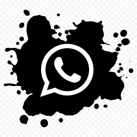 Hd Paint Splash Black White Whatsapp Wa Whats App Icon Png Paint Splash App Icon Painting