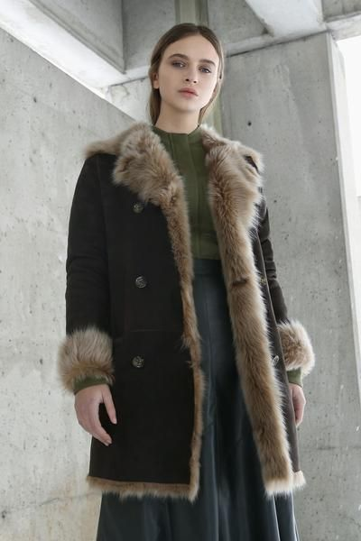 d7bb879bd8742c KOJA | Women's Chestnut Toscana Shearling Peacoat | Designed in NYC | Made  in Germany | Free Shipping & Returns