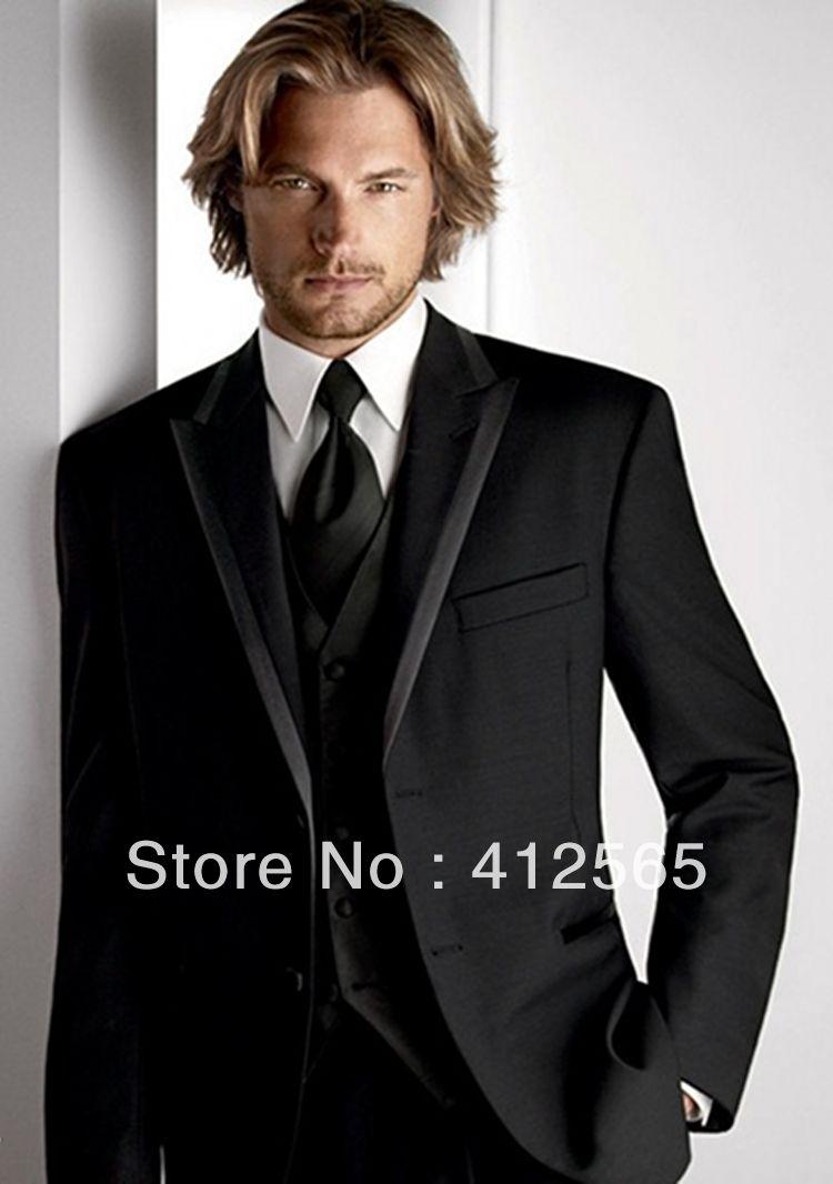 2013 New Design Black Tuxedo Groom Wedding Suits Pictures for Men ...
