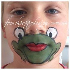 Frog Face Paint Google Zoeken Hayvan Yuzleri Vucut Boyama Yuzler