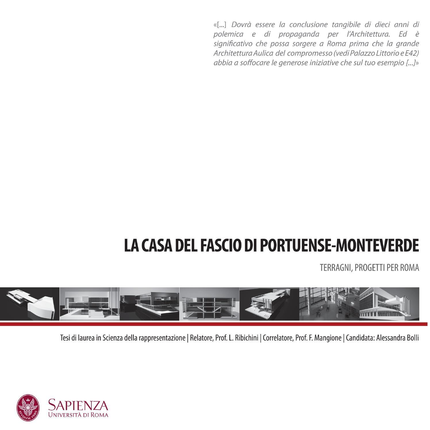 Casa Del Fascio Di Portuense Monteverde Di Giuseppe Terragni