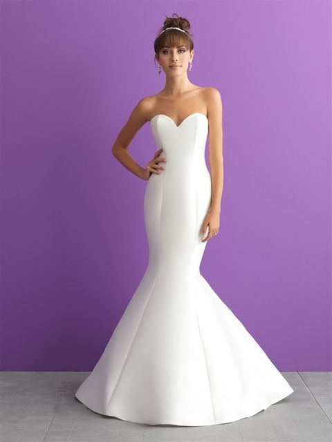 62eefb0981dd Allure Bridals style# 3000. Color ivory a strapless Mikado gown. Available  at Bridal Collections Spokane, WA