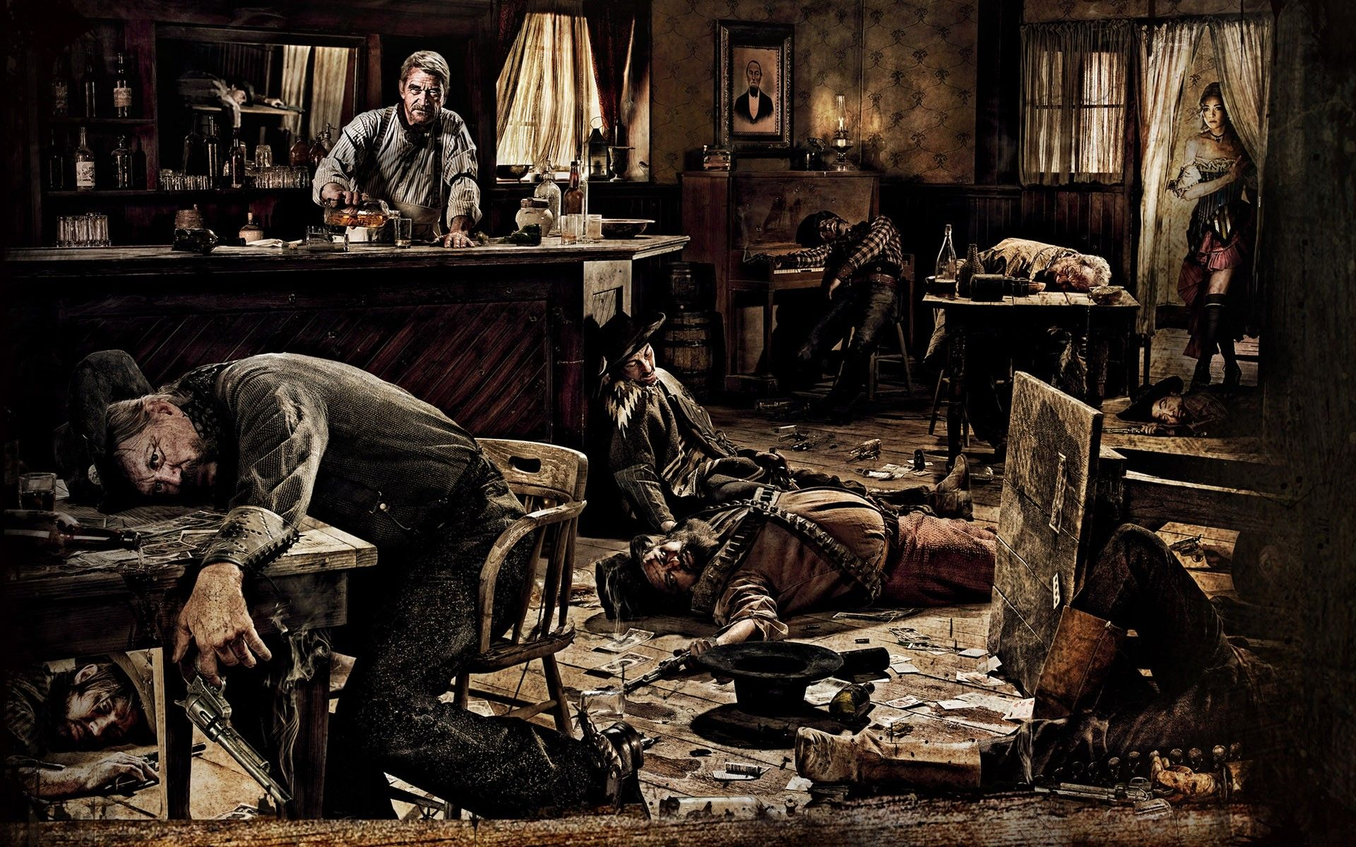 Wild west slaughterhouse saloon wallpaper forwallpaper for Lounge wallpaper