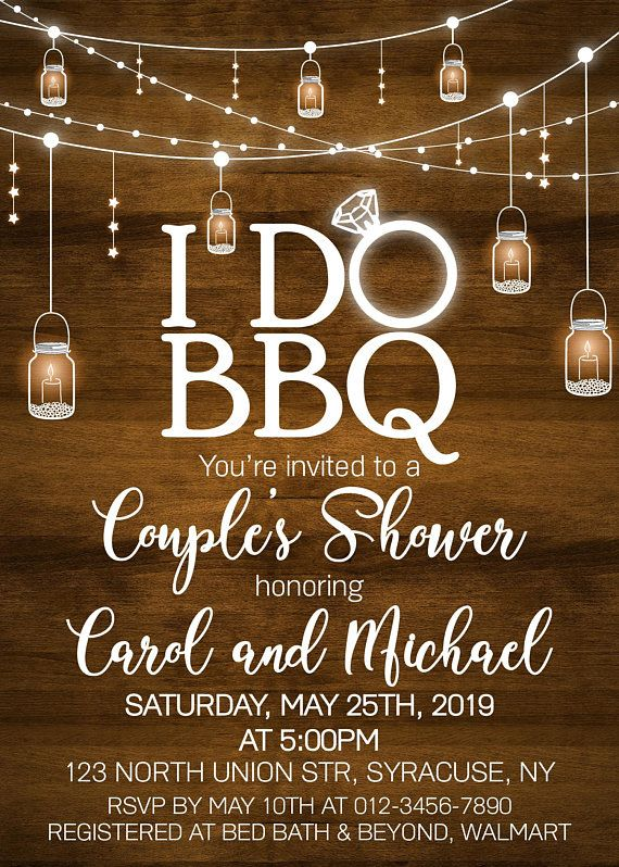 Bbq invitation, bbq Invitation, Barbecue, Engagement Party, Bridal Wedding, Couples bbq shower, Any wording, DIGITAL FILE - 1635