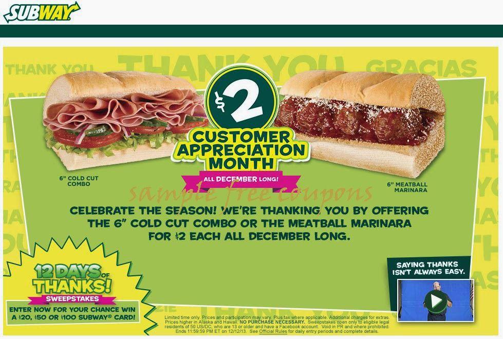 Subway Coupons Free Printable Coupons Printable Coupons Free Coupons