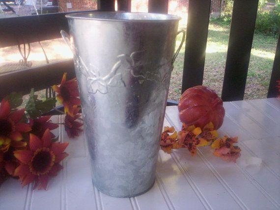 Galvanized French Bucket/Galvanized by Elezuomixmedia on Etsy, $6.00