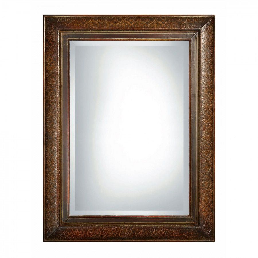Uttermost Rowena Rectangular Mirror in Mahogany - 07026 B