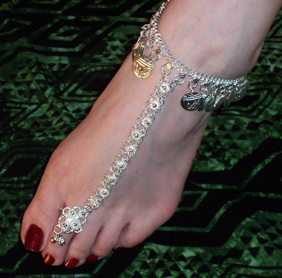 Deliziosa Bare Foot Sandalsfeet Jewelryankle Jewelrytoe Ringsindian