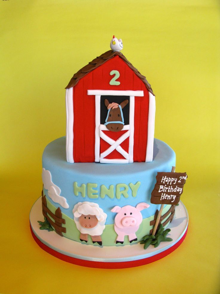 Farm animals birthday cake minis Pinterest Animal birthday
