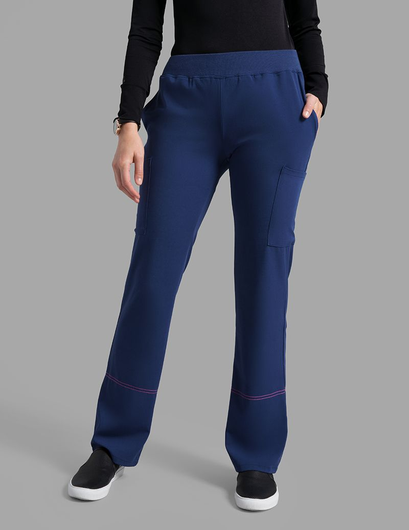 e0b99edc4 Contrast Stitch Top in Estate Navy Blue - Medical Scrubs by Jaanuu ...