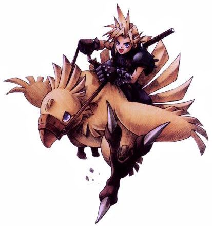 Final Fantasy VII: Cloud Riding Chocobo