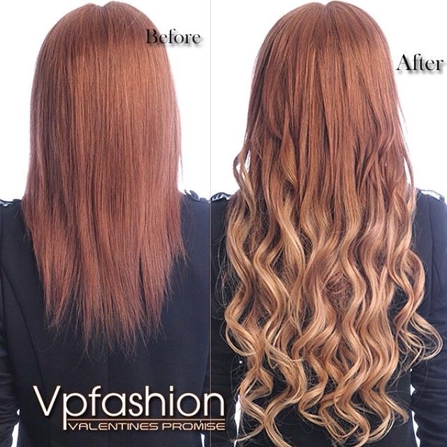 hair extensions before and after at vpfashion brown