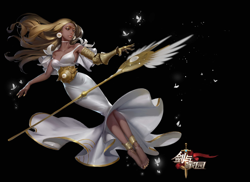 ArtStation 否决天使, 黄 河 in 2020 Fantasy art, Anime, Art