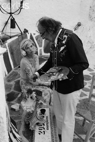 With Amanda Lear, Port Lligat, 27. September 1974 (Photo: John Bryson) en Meine Fotos de