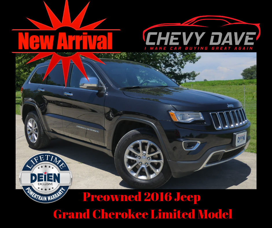 New Arrival 2016 Jeep Grand Cherokee Limited Model Only 34k