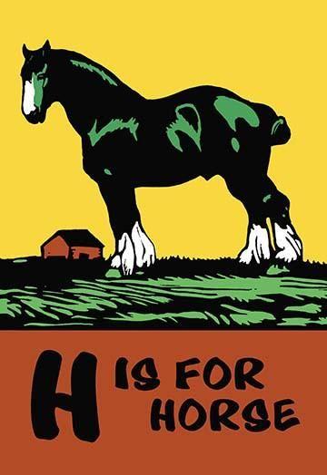 H Is For Horse Animal Alphabet Art Alphabet Wall Art