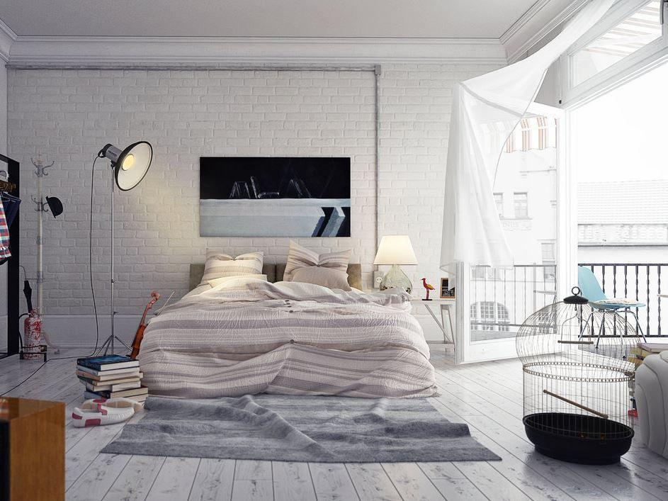 #Blanco, luz, una terraza, un poco de desorden ingeniosamente #interior design