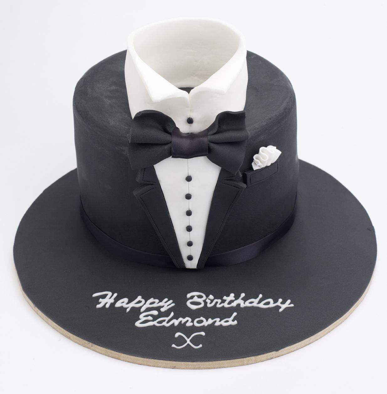 Tuxedo Birthday Cake Mens Cake Birthday Cake Tortas