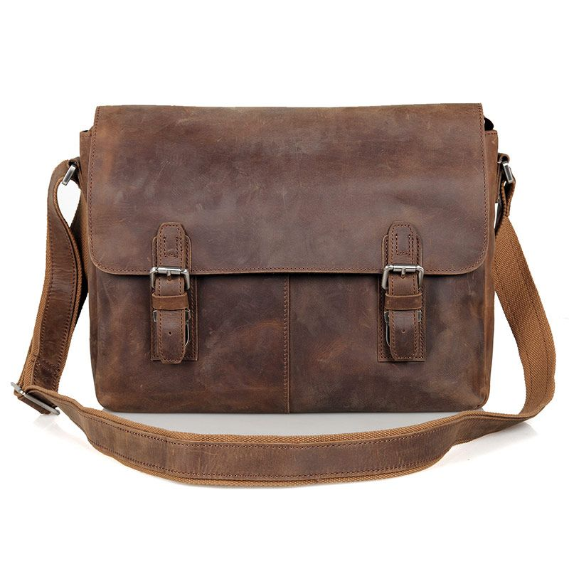 Sale for JMD Vintage Genuine Crazy Horse Leather Brown Leather ...