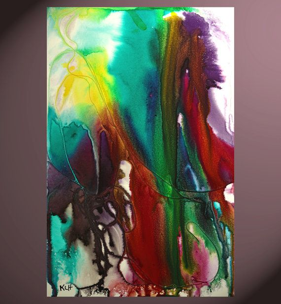 Abstract Multi-Colored Watery Painting With Ink And by Creative108
