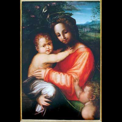 S. Foschi, Madonna col Bambino e San Giovannino, Galleria Spada,Roma