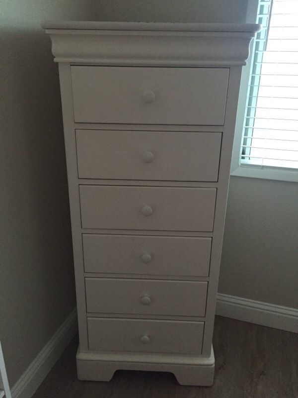 tall dresser chest. Stanley White Tall Dresser Chest Jewelry Mirror Lingerie In Pleasanton, CA (sells For $350) E