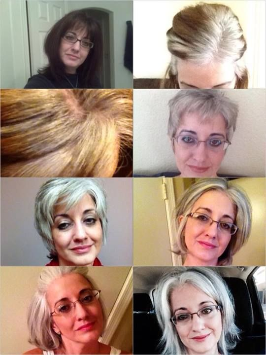 Femme 50 ans Naturally White Silver Grey Hair