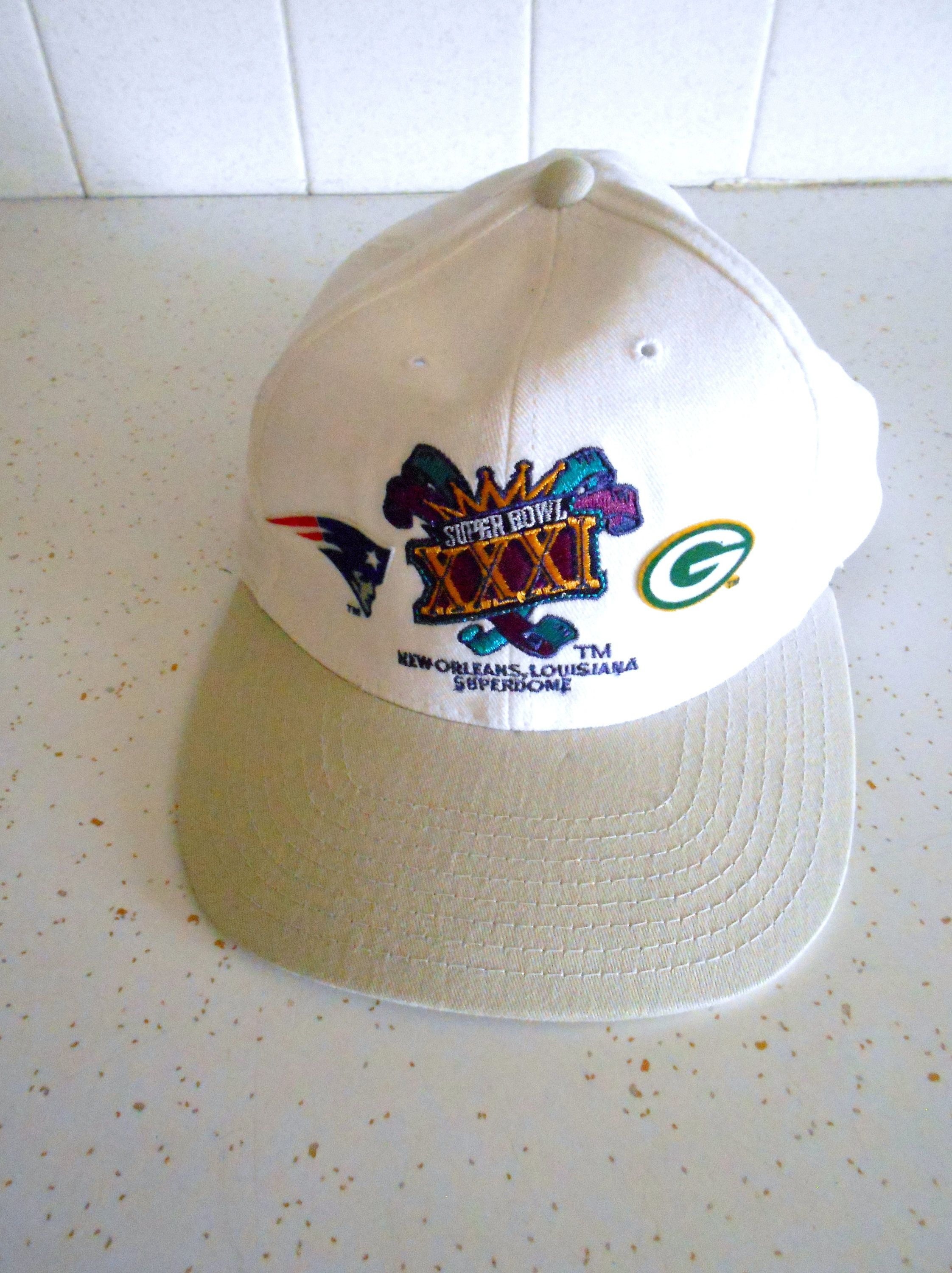 Vintage 1990s Green Bay Packers Patriots 1997 Super Bowl Xxxi Nfl Annco Hat Cap White Adjustable Football Retro Hipster Unise Vintage Outfits Cool Hats Vintage