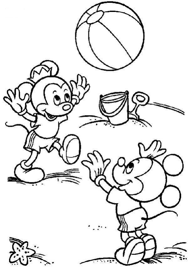 Printable Disney Beach Summer Coloring Pages Picture 12 550x778