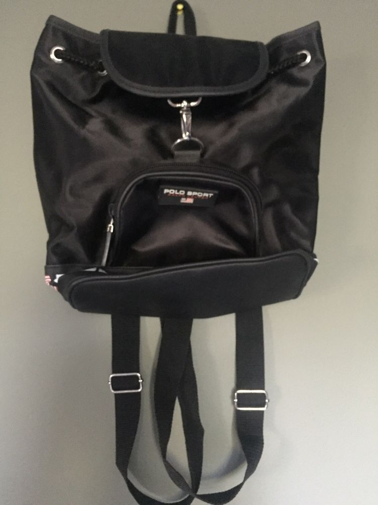 5d614220a4cf Vintage Ralph Lauren Polo Sport Backpack Drawstring Shoulder Bag.  fashion   clothing  shoes  accessories  unisexclothingshoesaccs  unisexaccessories  (ebay ...