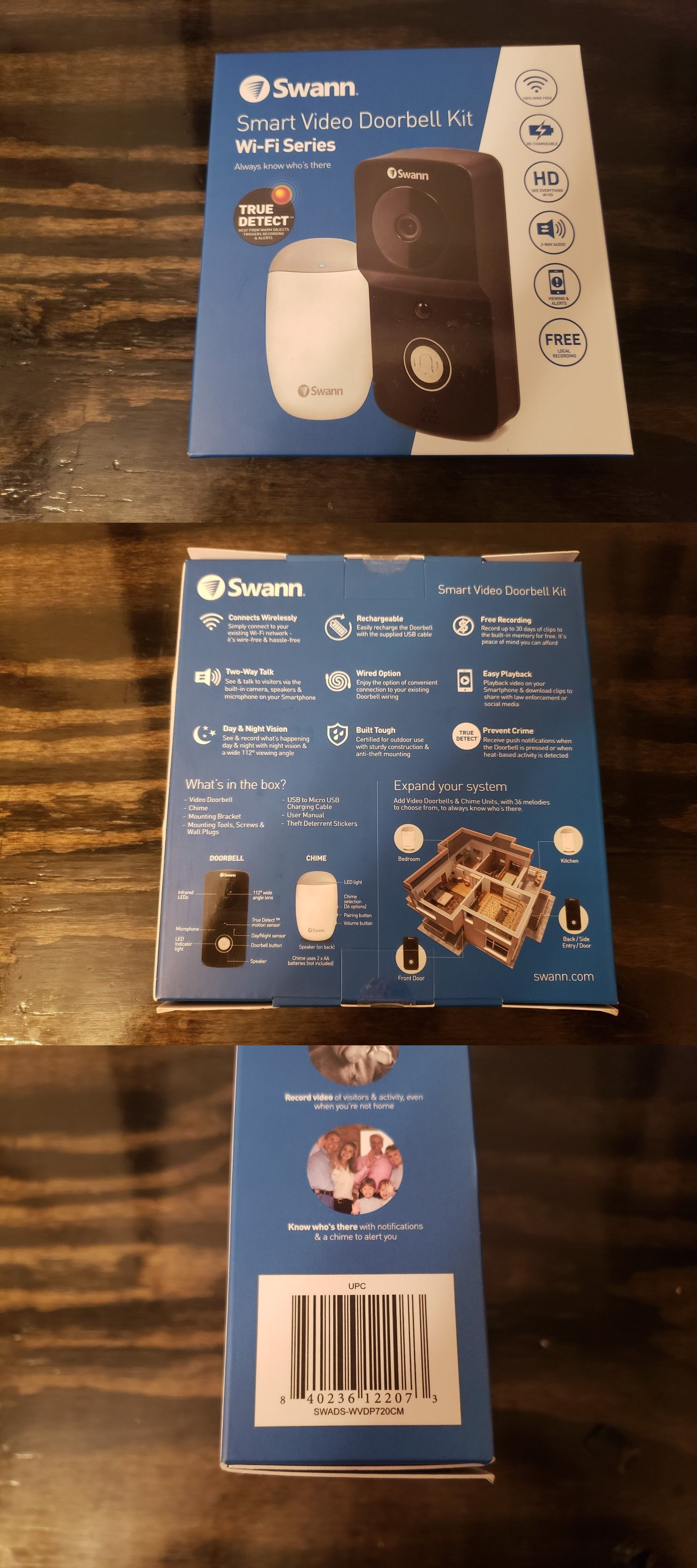 Doorbells 115975 Swann Smart Video Doorbell Kit Wifi Series Swads Wvdp720 New Buy It Now Only 70 On Ebay Doorbells Video Doorbell Smart Video Doorbell