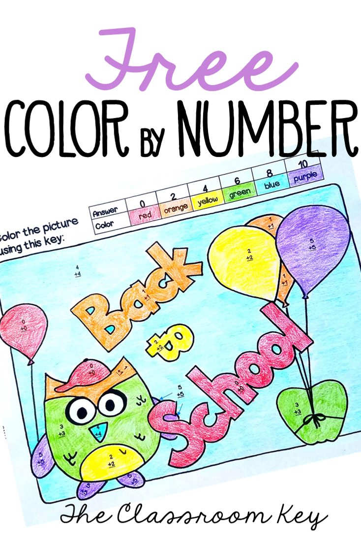 Back to School Freebie | Pinterest | Math facts, School colors and Math