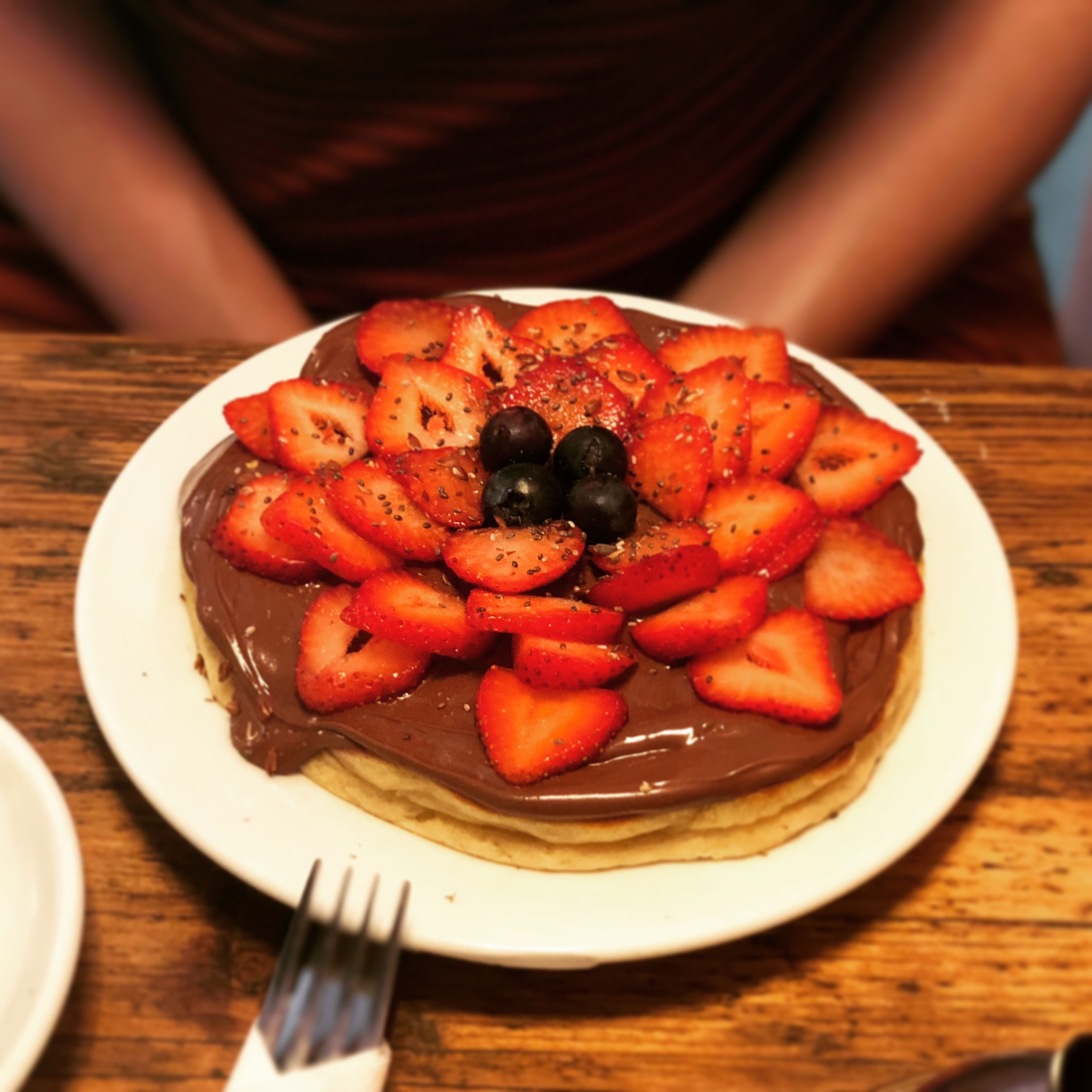 Pancakes with nutella and strawberries from a never ending ...