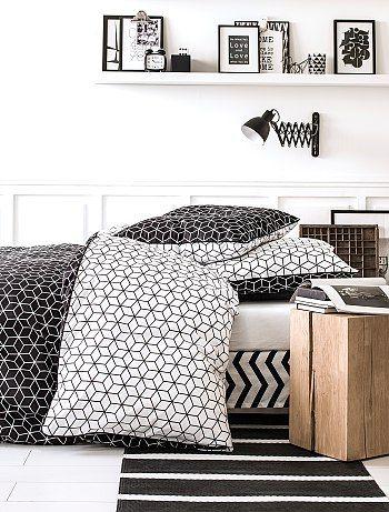 Parures de lit chambre adultes linge de lit kiabi