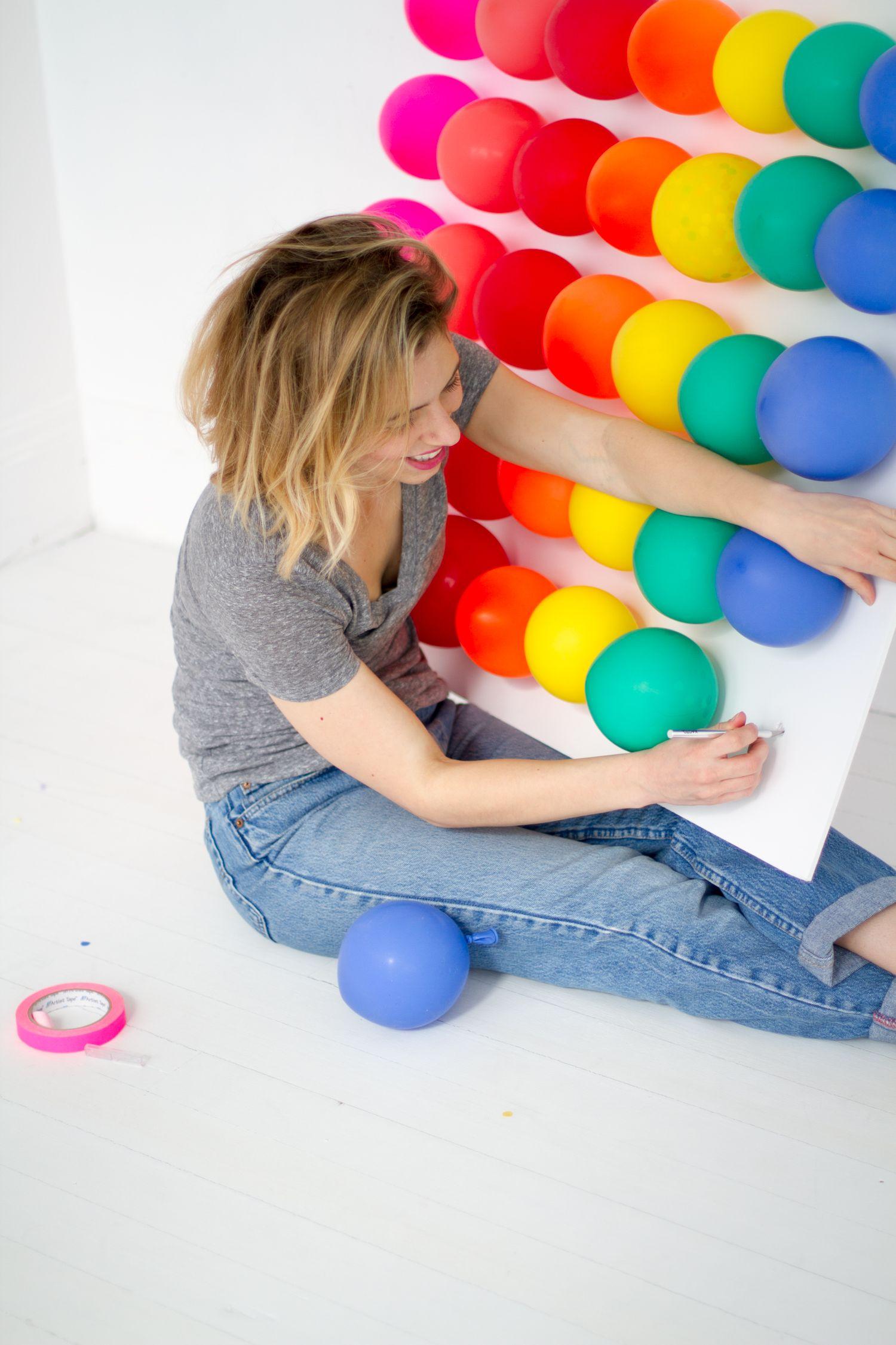 Rainbow Balloon Carnival Game Trolls birthday party