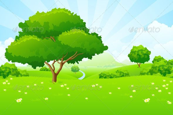 Tree Landscape Landscape Trees Landscape Clipart Landscape