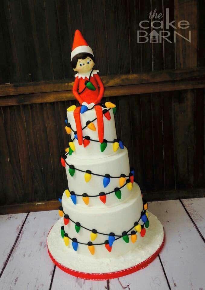 Elf On The Shelf Cake Christmas In 2019 Christmas Cake