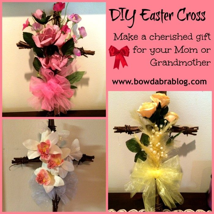 This beautiful diy easter cross wall decor will make a cherished easter cross wall dcor negle Gallery
