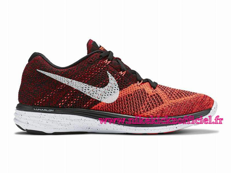 on sale 41ec2 f1f5e Site Nike Flyknit Lunar 3 Chaussures Officiel Nike Pour Homme Noir Rouge…