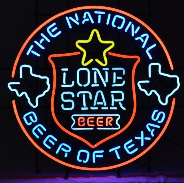Lone Star Beer Neon Sign- @burleyauction   Neon beer signs