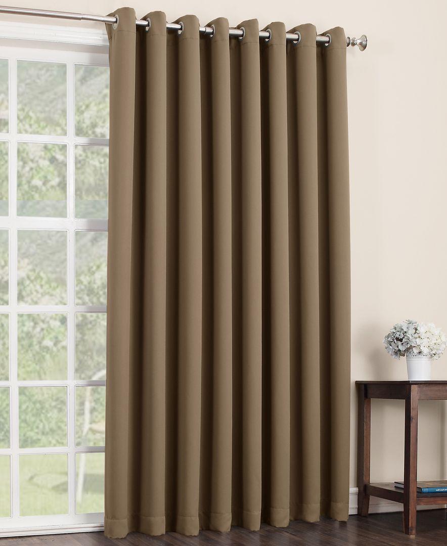 sun zero gaylen blackout woven curtain 100 x 84 patio panel registry envy in 2019 cortinas. Black Bedroom Furniture Sets. Home Design Ideas