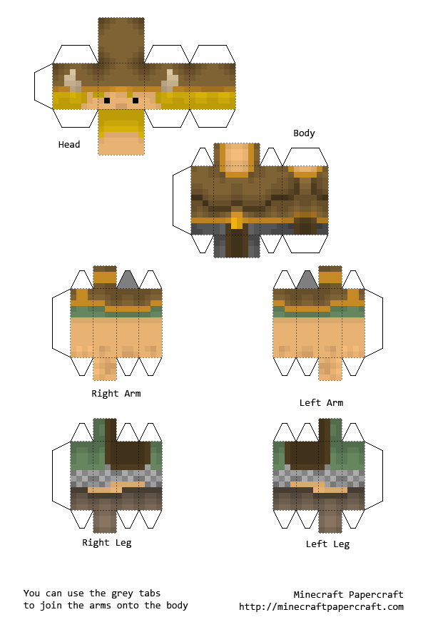 minecraft papercraft viking papercraft included