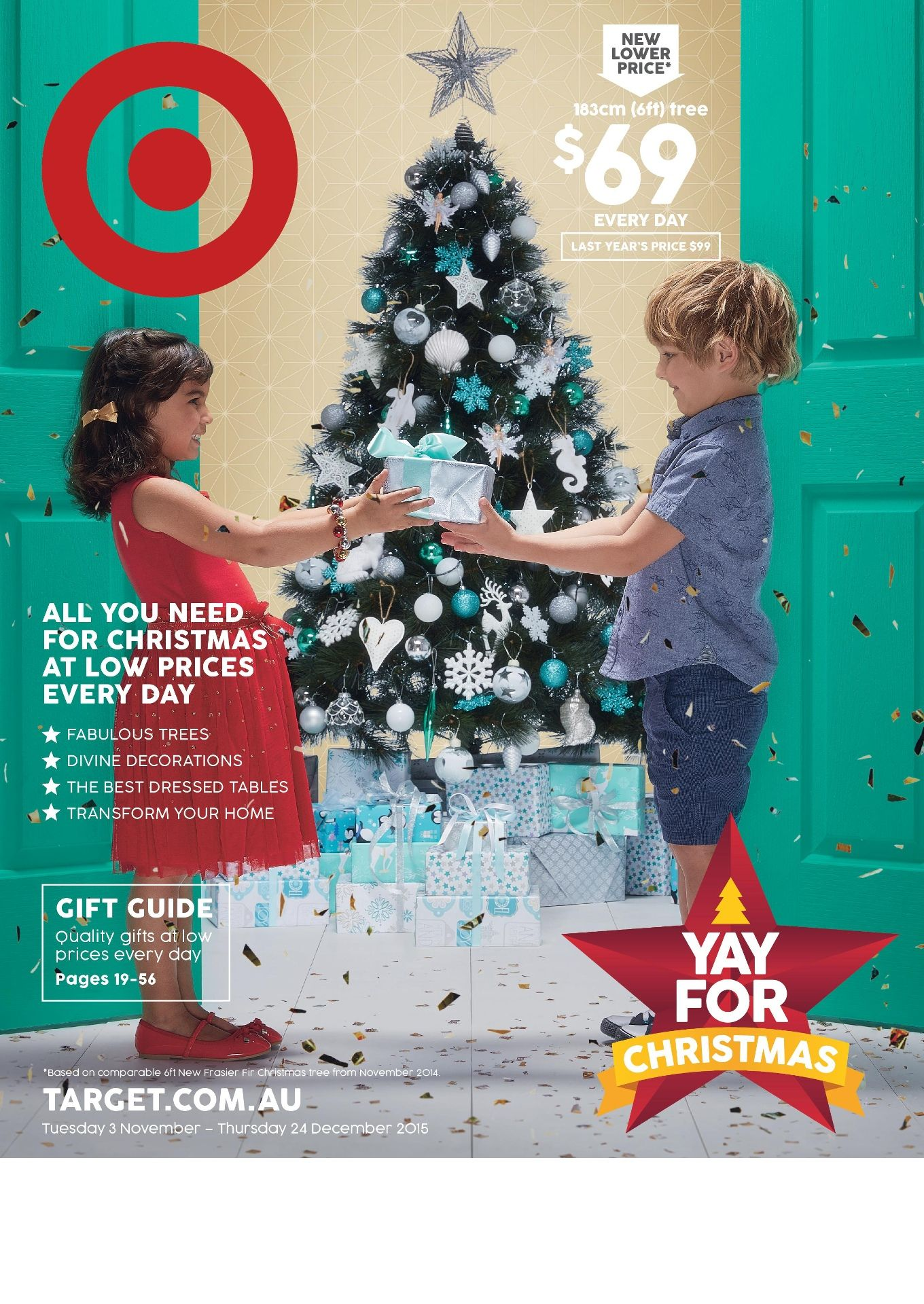 target australia sale valid 3 november 24 december - Target Christmas Decorations Sale