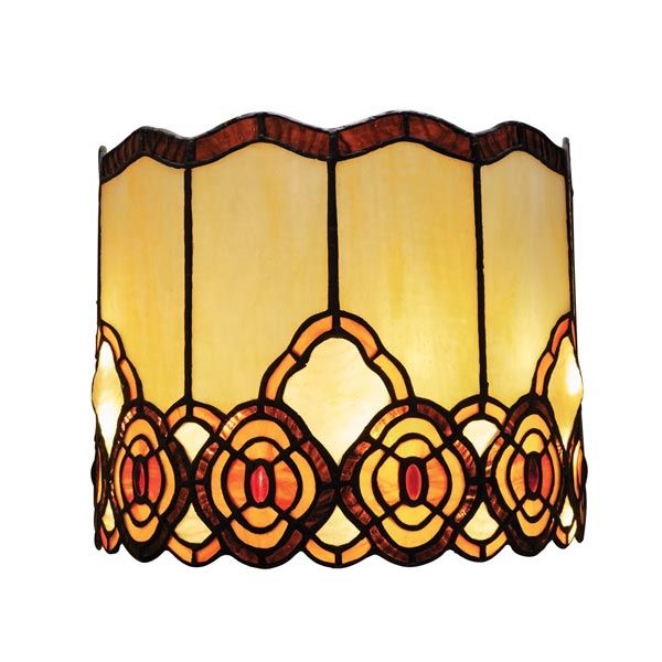 Battery Operated Wall Sconce In Tiffany Style Art Gl