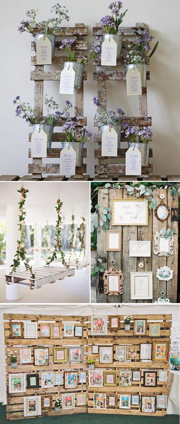 Luxury wedding decoration ideas  Decoracion de bodas con pallets  casa  Pinterest  Ideas para