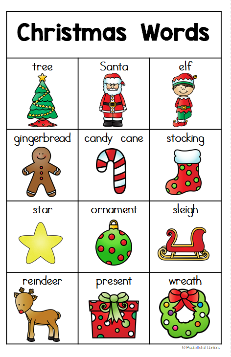 List of words for writing centerristmas words before the christmas writing center preschool winterpreschool sciox Gallery